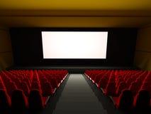 电影供以座位剧院 免版税库存照片