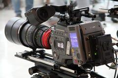 电影制作专业摄象机 库存照片
