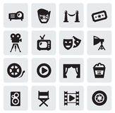 电影图标 免版税库存图片