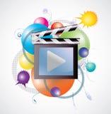 电影媒体在抽象背景中 免版税库存图片