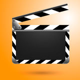 电影拍板黑色委员会和白色 免版税库存照片