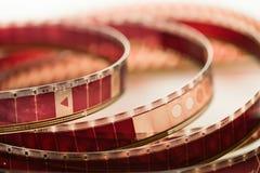 电影摄影术的概念电影工业卷轴 免版税库存照片