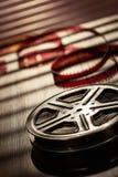 电影摄影术的概念电影工业卷轴 库存照片