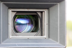 电影摄影机透镜 库存图片