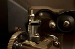 电影放映机特写镜头 库存照片