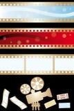 电影横幅和设备 库存照片