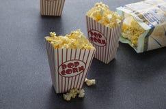 电影玉米花 免版税库存照片