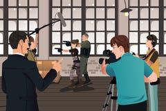 电影生产场面 免版税库存照片