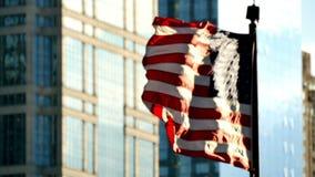 电影美国沙文主义情绪在芝加哥在日落 股票视频
