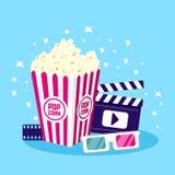 电影象传染媒介例证 戏院和影片的项目 向量例证