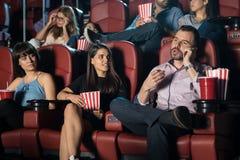 电影院的讨厌的人 免版税库存图片