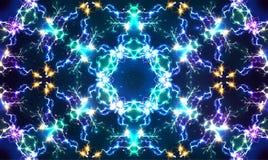 电抽象光亮的分数维的传染媒介 库存例证