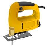 电曲线锯的黄色 免版税图库摄影