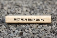 电机工程-与词的图象联合题目通讯技术,词,图象,例证 图库摄影