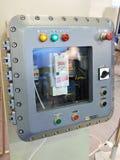 电机设备的防爆箱子 库存照片