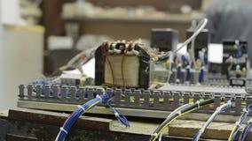 电机设备,一个现代CNC机器的控制系统 影视素材