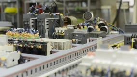 电机设备,一个现代CNC机器的控制系统 股票视频