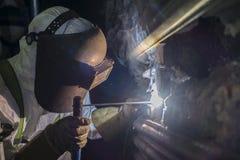 电极焊接 图库摄影