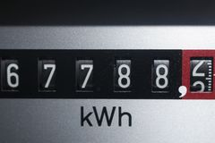 电柜台,能量的图象 图库摄影