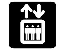 电梯倒置了 库存例证