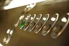 电梯按钮 免版税库存照片