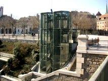电梯玻璃 免版税图库摄影