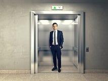 电梯的人 免版税库存照片
