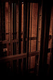 电梯en暗色 免版税库存图片