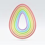电汇七塑造外形的蛋形状 图库摄影