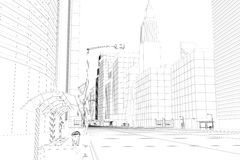 电汇框架城市 库存照片