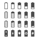 电池与充电电平指示器的象集合 库存照片
