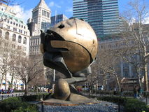 电池中心城市地球新的公园贸易世界&# 免版税图库摄影