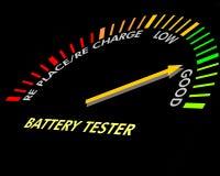 电池仪器测试 免版税库存照片