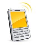 电池例证电话 免版税库存图片