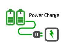 电池充电插件向量 库存照片