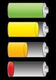 电池充电级别 库存图片