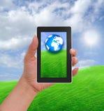 电池国家(地区)现有量电话视图 免版税库存图片
