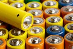 电池大小AA 库存图片