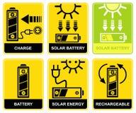 电池太阳充电的再充电 库存照片