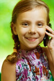 电池女孩电话联系 免版税库存图片