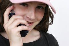 电池女孩 免版税库存图片