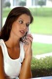 电池妇女 免版税库存照片