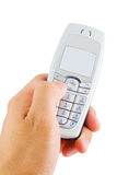 电池拨号电话 免版税库存照片