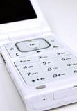 电池接近的现代电话 免版税库存图片