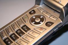 电池接近的电话 免版税库存照片