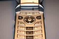 电池接近的电话 免版税库存图片