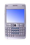 电池查出的电话 免版税库存照片