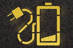 电池标志 免版税库存图片