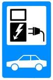 电池汽车充电器 库存照片