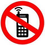 电池没有电话符号 免版税库存图片